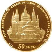 50 Euro (Cluny Abbey) – reverse
