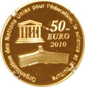 50 Euro (Taj Mahal) – reverse