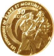 50 Euro (Blake and Mortimer) – reverse