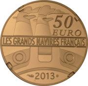 50 Euro (The Amazone ; gold) – reverse
