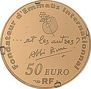 50 Euro (Abbé Pierre) – reverse