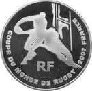 1 ½ Euro (Rugby World Cup) – obverse
