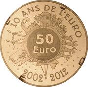 50 Euro (10 Years of Euro Cash) – reverse