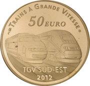 50 Euro (Lyon Saint-Exupéry Railway Station) – reverse