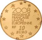 10 Euro (French Presidency) – reverse