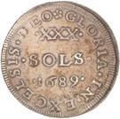 30 Sols - Louis XIV – reverse