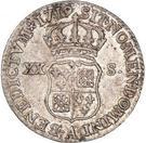 20 Sols - Louis XV – reverse