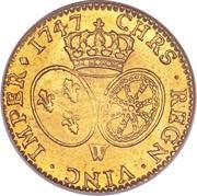 1 Louis d'Or - Louis XV -  reverse