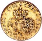 ½ Louis d'Or - Louis XV – reverse
