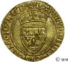 ½ Écu d'Or - Charles VII – obverse
