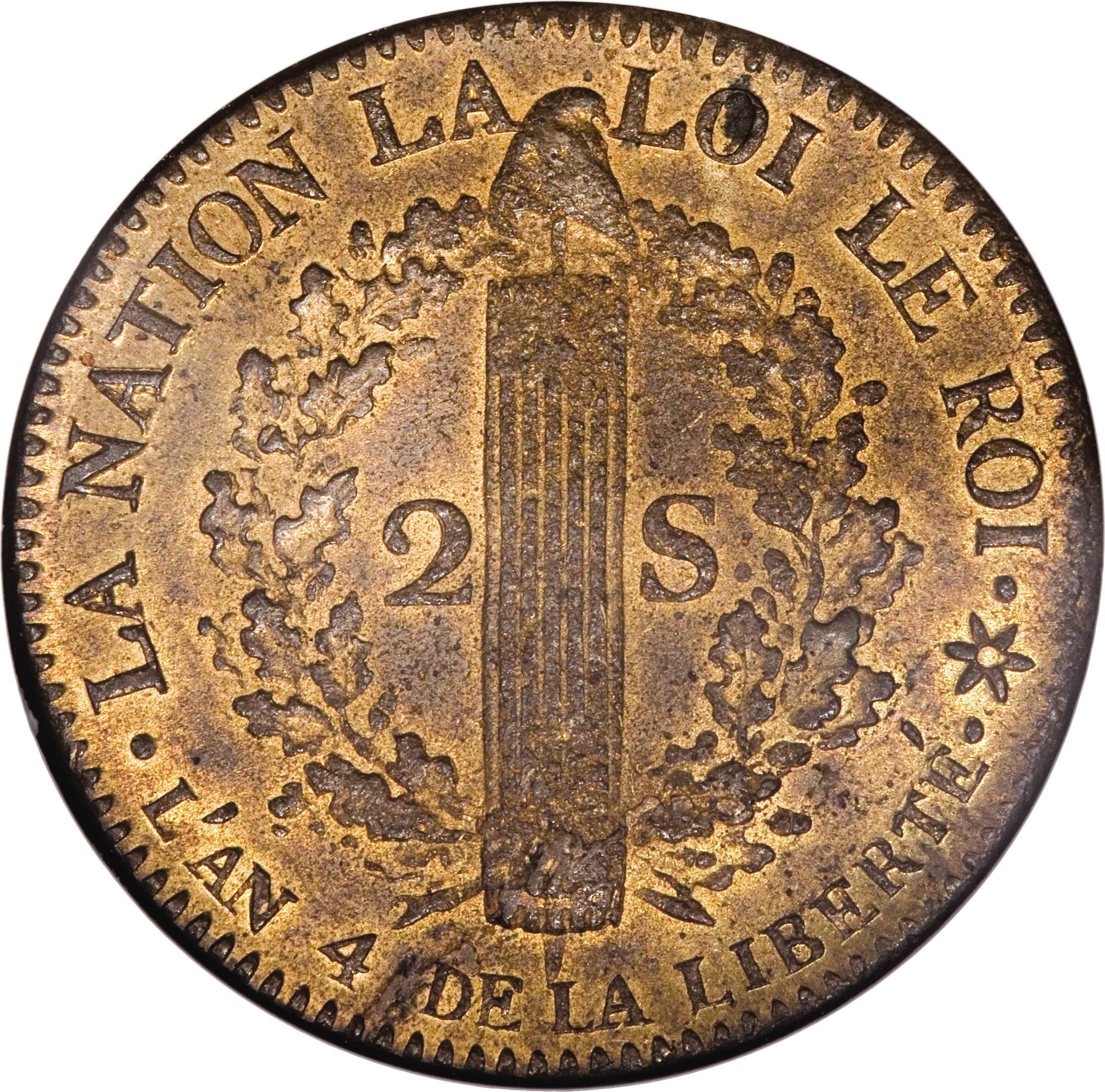 2 Sols - Louis XVI (FRANÇAIS) - France - Kingdom – Numista