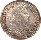 ½ Ecu - Louis XIV – obverse