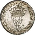 ½ Écu - Louis XIV – reverse