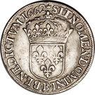 ½ Ecu - Louis XIV – reverse