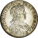 ½ Écu - Louis XIV – obverse