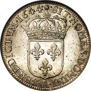 ½ Écu - Louis XIV - reverse