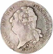 1 Ecu - Louis XVI (FRANÇAIS) – obverse