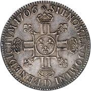 1 Écu - Louis XIV – reverse
