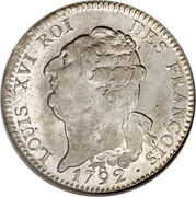 1 Écu - Louis XVI (FRANÇOIS) – obverse