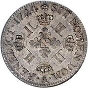 1 Ecu - Louis XV – reverse