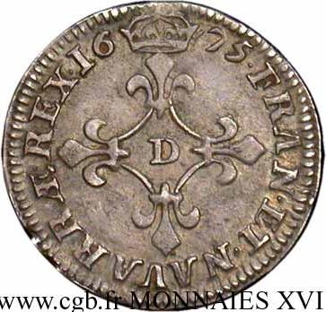 4 sols dits des traitants 39 39 louis xiv france royaume nu - Sol en piece de monnaie ...