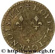 Double Tournois - Louis XIII (Bordeaux mint; 1st type) – reverse