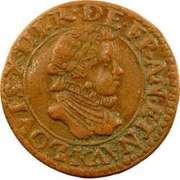 Double Tournois - Louis XIII (Bordeaux mint; 2nd type) – obverse