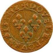 Double Tournois - Louis XIII (Bordeaux mint; 2nd type) – reverse