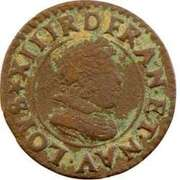 Denier Tournois - Louis XIII (Poiters mint; 2nd type) -  obverse
