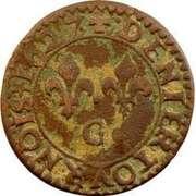 Denier Tournois - Louis XIII (Poiters mint; 2nd type) -  reverse