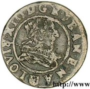 Double Tournois - Louis XIII (Navarre/Saint-Palais mint; 1st type) -  obverse