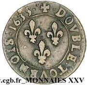Double Tournois - Louis XIII (Navarre/Saint-Palais mint; 1st type) -  reverse