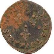 Double Tournois - Henri IV (Narbonne mint; 2nd type) – reverse