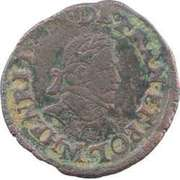 Double Tournois - Henri III (Toulouse mint; Type 1D) – obverse
