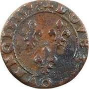 Double Tournois - Henri IV (Clermont-en-Auvergne mint; Latin text) – reverse