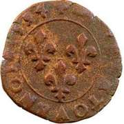 Double Tournois - Henri IV (Clermont-en-Auvergne mint; French text) – reverse