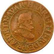 Double Tournois - Henri IV (Lyon mint; Type 1B) – obverse