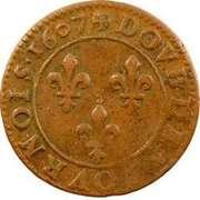 Double Tournois - Henri IV (Lyon mint; Type 1B) – reverse