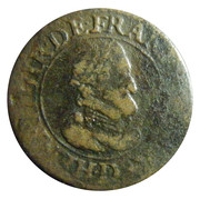 Double Tournois - Henri IV (Lyon mint; 2nd type) – obverse