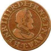 Double Tournois - Henri IV (Nantes mint) – obverse