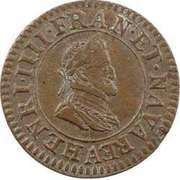 Double Tournois - Henri IV (Paris mint; 1st type; Latin text) – obverse