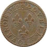 Double Tournois - Henri IV (Paris mint; 1st type; Latin text) – reverse