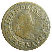 Double Tournois - Henri IV (Paris mint; 2nd type; French text) – obverse