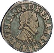 Double Tournois - Henri IV (Villeneuve mint) – obverse