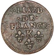 Liard - Louis XIV -  reverse