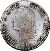 """Ecu de Béarn dit """"à la vieille tête"""" - Louis XV – obverse"""