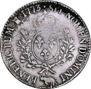 """Ecu de Béarn dit """"à la vieille tête"""" - Louis XV – reverse"""