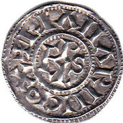 Denier - Charles III the Simple - Christian Legend – reverse