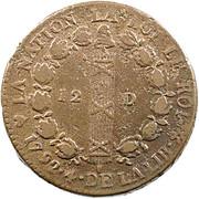 12 Deniers - Louis XVI (FRANÇAIS) -  reverse