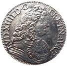 ½ Écu - Louis XIV (1st type) – obverse